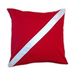 Pillow Case Diving Center Decoration Red Dive Flag