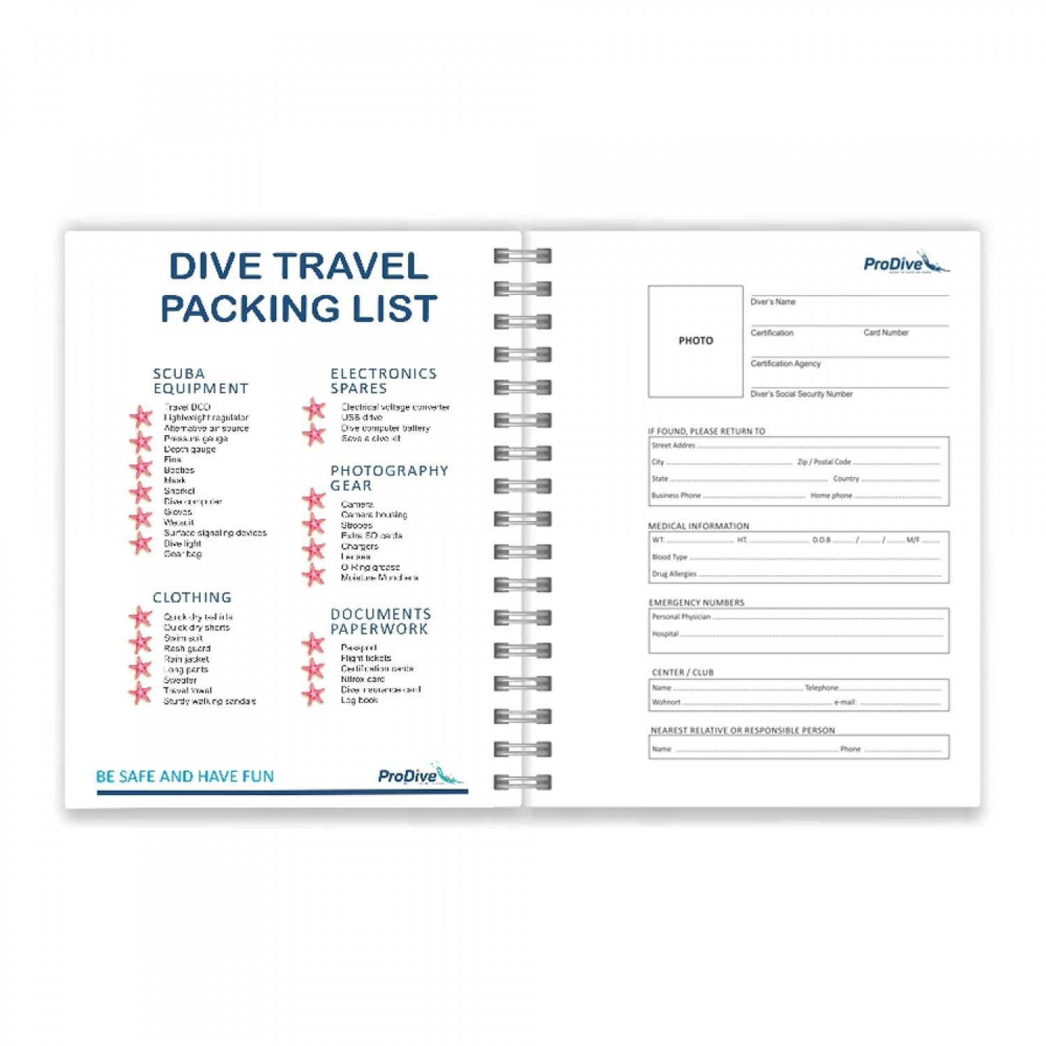 Gift for divers Personalized Dive Log Book