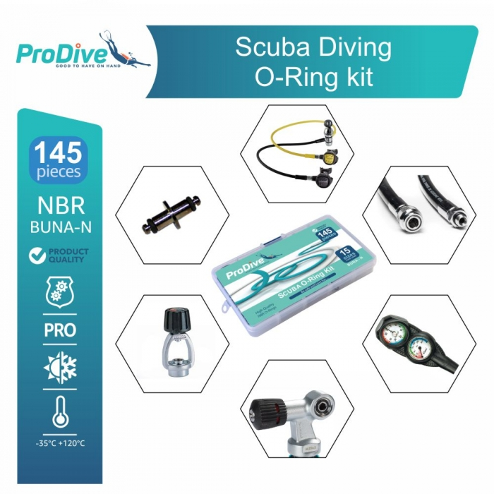 Scuba Diving Service O'rings Kit Spare 145 O-rings
