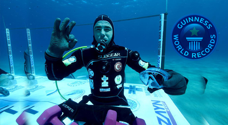 A new Guinness world record for scuba diving